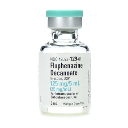 Fluphenazine Decanoate, 25mg/mL, MDV, 5mL Vial