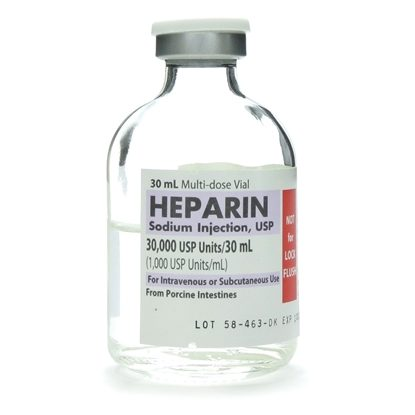 Heparin Sodium,  1,000U/mL, MDV 30mL Vial *use item 000660*