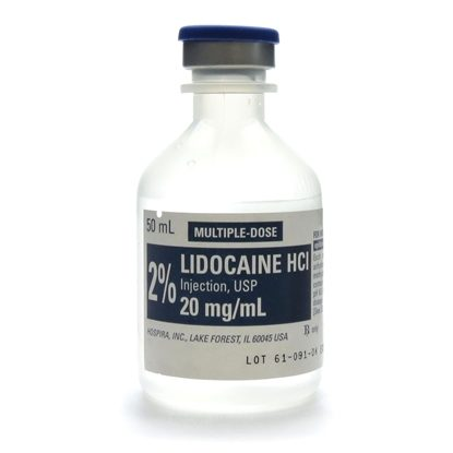 Lidocaine 2%, 20mg/mL, MDV, 50mL Vial