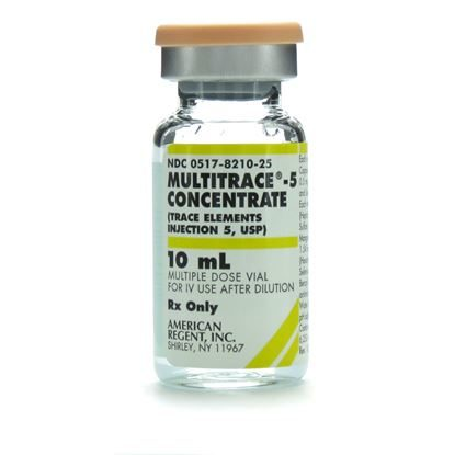 Multitrace® 5 Concentrate (Trace Elements Injection 5, USP), MDV, 10mL Vial