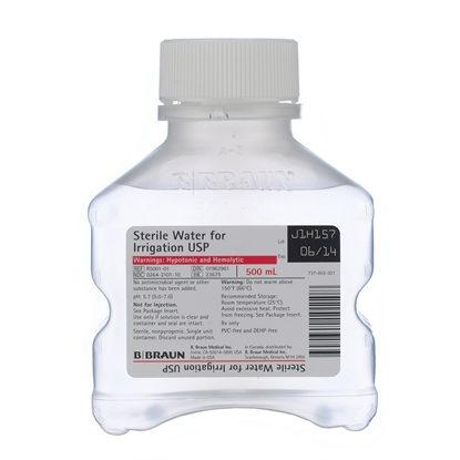 Sterile Water for Irrigation USP,  500mL, PIC™, 16/Case