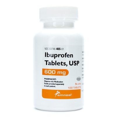 Ibuprofen, 600mg, 500 Tablets/Bottle