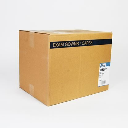 "Gown, Exam 30"" x 42"", 3-Ply, Blue, Disposable, Medi-Pak,  50/Case"