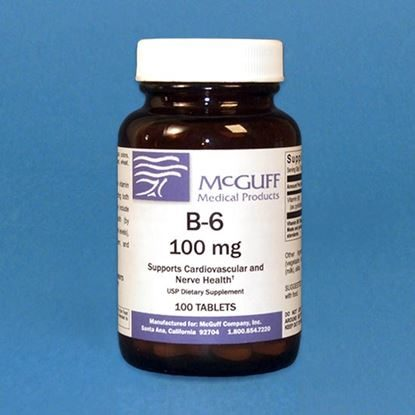 Vitamin B-6, 100mg, 100 Tablets/Bottle