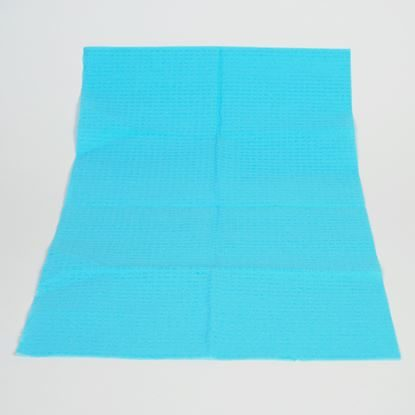 "Pillow Towel, 3-Ply, 13 1/2"" x 18"", Poly-Back, Blue, 500/Case"
