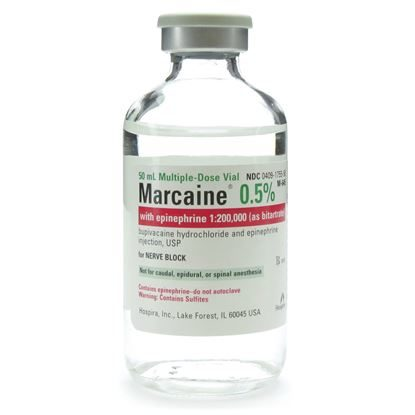 Marcaine® (Bupivacaine HCl), 0.5%, with Epinephrine, 5.0mg/mL, MDV, 50mL Vial