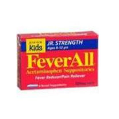 Acetaminophen, Feverall® Jr, 325mg, Suppositories, 50/Box