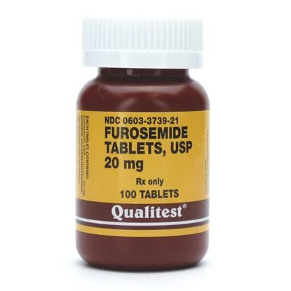 Furosemide, 20mg, 100 Tablets/Bottle