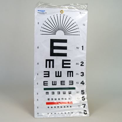 "Eye Chart, Illiterate, Plastic, 22"" x 11"", Use at 20', Medi-Pak™, Each"
