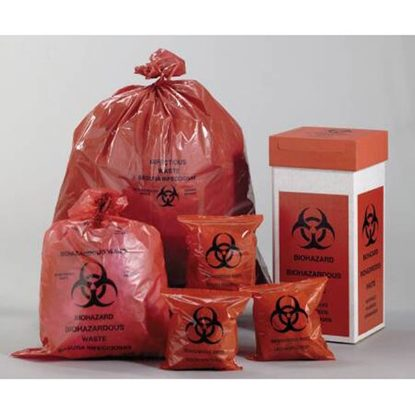 Bags, Infectious Biohazard Waste, 44 Gallon, Red, 250/Case