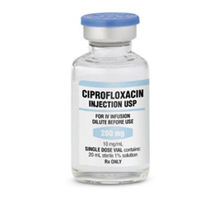Ciprofloxacin IV, 10mg/mL, SDV, 20mL/Vial, Each