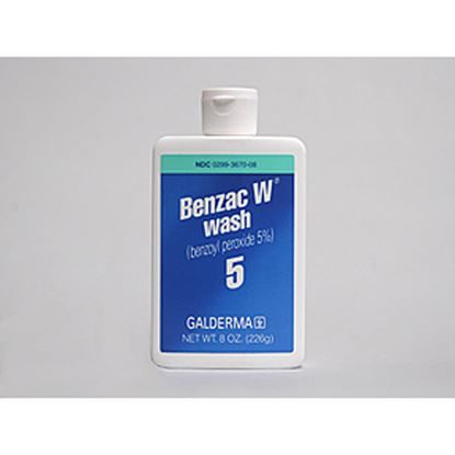 Wound Wash, Benzac W Wash, 5%, 8 Ounce Bottle