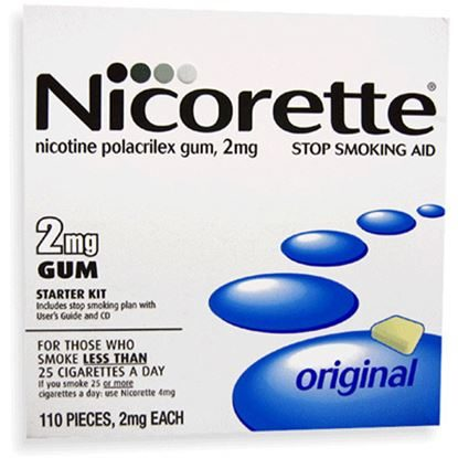 Nicotene Gum, Starter Kit Chewing Gum, 2mg, 110 pieces/Box
