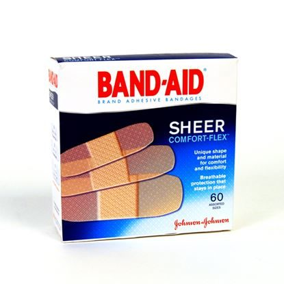 Bandage, Strip Sheer, Comfort-Flex, Assorted Sizes, 60/Box