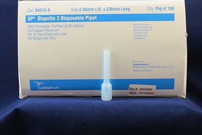 ESR (Erythrocyte Sedimentation Rate) Rapid Test, Westergren, Dispette 2, Visual  - w/Pipettes  100tests/Box
