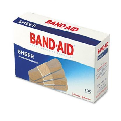 Bandage, Strip Sheer,  3/4'' x 3'', Bandaid® 100/Box