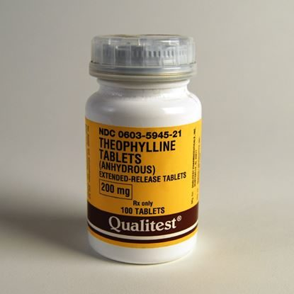 Theophylline ER, 200mg, 100 Capsules/Bottle