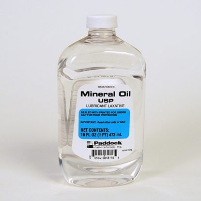 Mineral Oil, Heavy, 16 Ounce Bottle