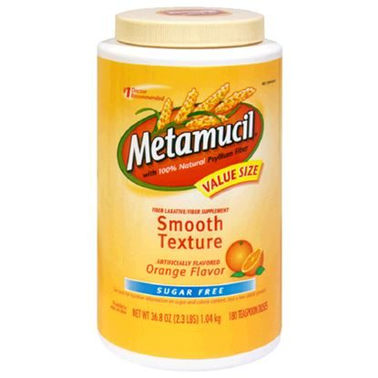 Metamucil (Psyllium/Sucrose), Orange, Original Powder, 870gm Bottle