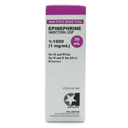 Epinephrine 1:1000, 1mg/mL, MDV, 30mL Vial *Use item 000518, Adrenalin*