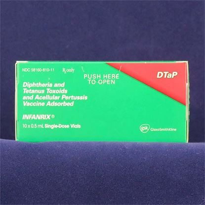 Vaccine, DTaP, INFANRIX®, SDPF, 0.5mL 10 Vials/Tray  *Refrigerate* non-returnable