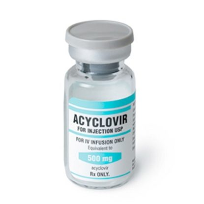 Acyclovir Sodium, 500mg/Vial, SDV, 10mL,  10 Vials/Tray