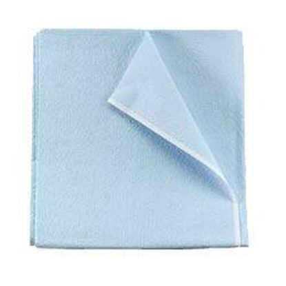 "Drape Sheet, Non-Fenestrated, 40"" x 48"", Poly/Tissue, Non-Sterile, Blue, 50/Case"