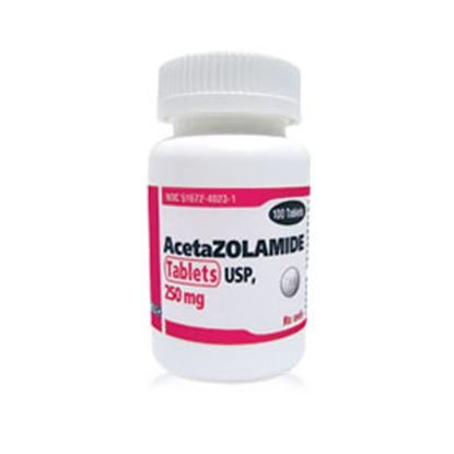Acetazolamide, 250mg, 100 Tablets/Bottle