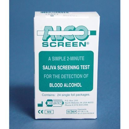 Drug Test, Saliva, Alcohol Test for the Presence of Alcohol in Blood, Alco-Screen 02®. 24/Box