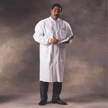 Lab Coat, Basic Plus, Medium, White, 25/Case