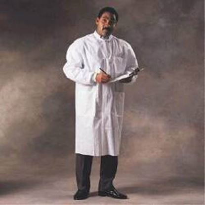 Lab Coat, Basic Plus, Large, White, 25/Case