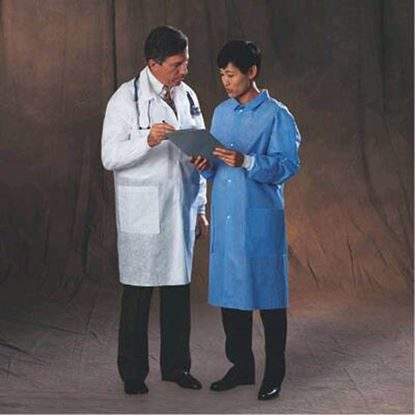 Lab Coat, Basic, Large, White, 25/Case