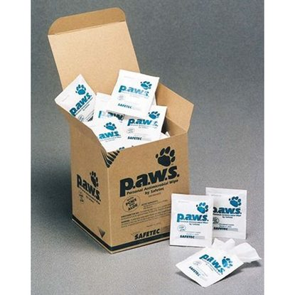 "Toweletts Pre Moistened Sanitizing Wipe, P.A.W.S.™, Ethyl Alcohol,  5"" x 8"", 100/Box"