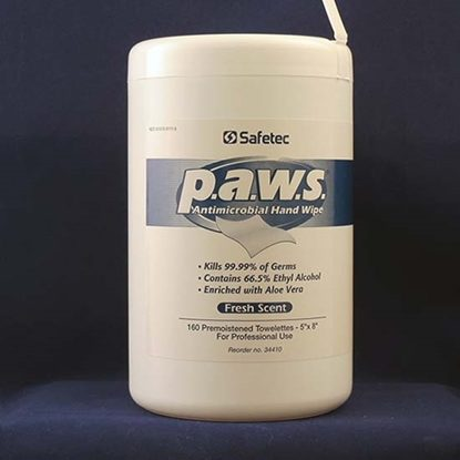 "Toweletts Pre Moistened, P.A.W.S.™, 5"" x 8"", Ethyl Alcohol, Large Pull out Tubs, 160/Tub, 12 Tubs/Case"