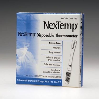 Thermometer, Single-use, NexTemp™, 100/Box