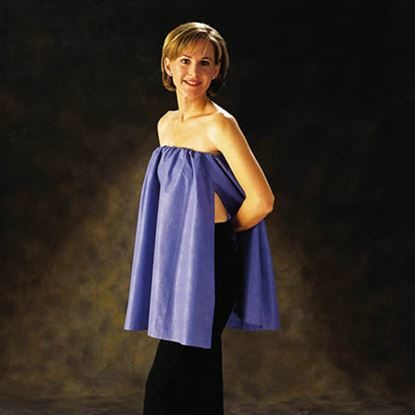 "Cape, Exam 22"" x 48"", with Elastic, Blue, Flexfit™, 25/Case"