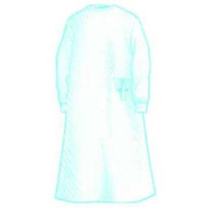 Gown, Surgical, Large, Sterile, Blue, 3-Ply Microfiber, Long Sleeve, Optiva, Astound®, 20/Case