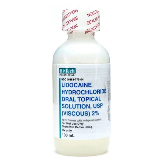 Lidocaine Lidocaine Hydrochloride Oral Topical Solution USP 2 20mgmL Viscous Oral Solution 100mL Bottle