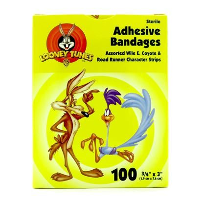 "Bandage, Cartoon Road-Runner, 3/4"" x 3"", Plastic, 100/Box"