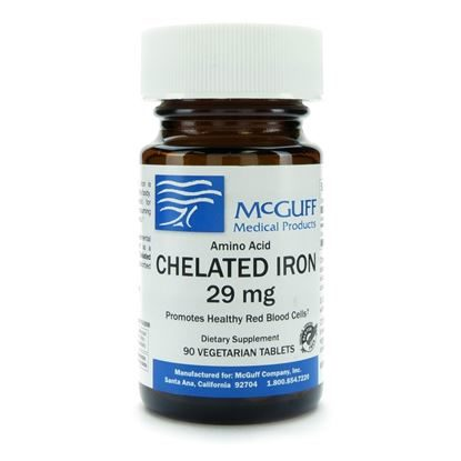 Chelated Iron 29mg 90 TabletsBottle