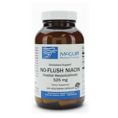 Niacin, No-Flush, 525mg, 100 Capsules