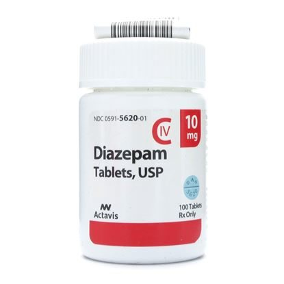 Diazepam [C-IV], 10mg, 100 Tablets/Bottle