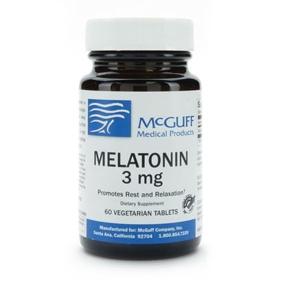 Melatonin, 3mg, 60 Tablets/Bottle