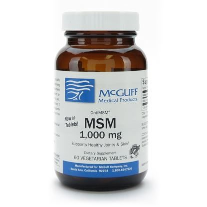 MSM, 1,000mg, Vegetarian, OptiMSM®, 60 Tablets/Bottle