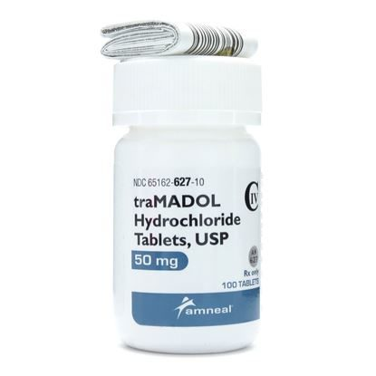 Tramadol HCl  (C-IV) 50mg,  100 Tablets/Bottle