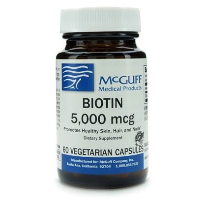Biotin,  5mg, 60 Capsules/Bottle