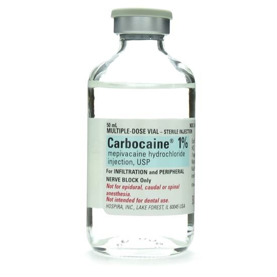 Carbocaine 1 1mgmL MDV 50mL Vial