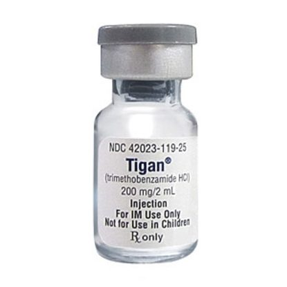 Tigan 100mg/mL  SDV  2mL, 25vials/tray