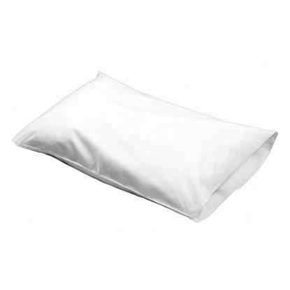 "Pillow Case, 21"" x 30"", Poly-Back, White, 100/Case"