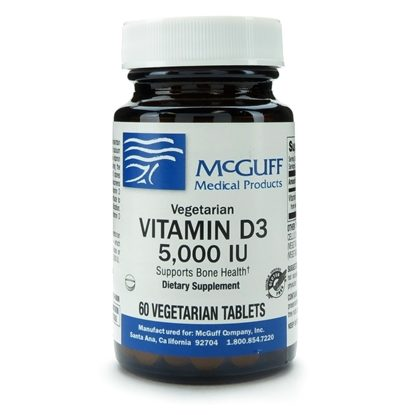 Vitamin D3  5,000iu  (125mcg)  Vegetarian Tablets  Scored    60/bottle